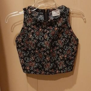 UO cropped vintage-style top